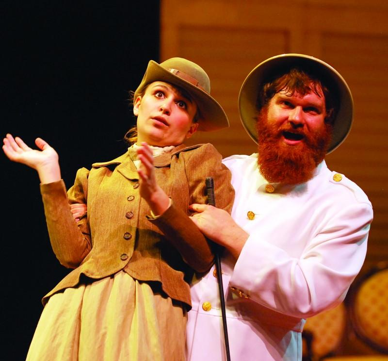 Kaitlin Graves and Sam Weiner perform in Act 1 of