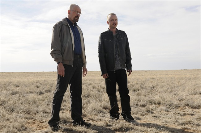Bryan+Cranston+and+Aaron+Paul+star+in+%22Breaking+Bad%22+on+AMC.+Photo+courtesy+of+AMC.