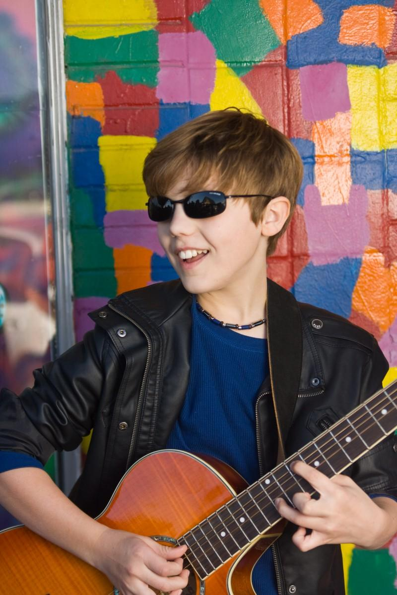 The son of Trinity alumni Mitch and Jane Judd Deming, 13-year-old Reed Deming auditoned for X-Factor to further his performing aspirations. Photo courtesy of Mitch Deming.