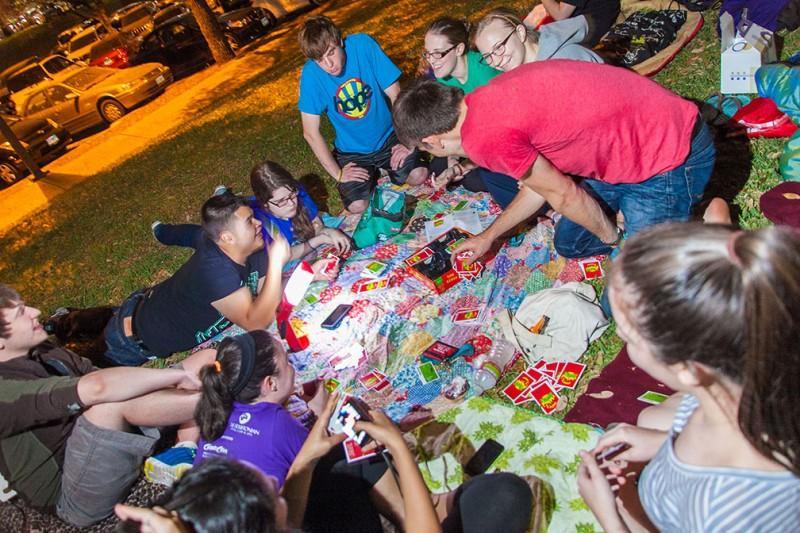 Students participate in H.O.P.E. Hall's