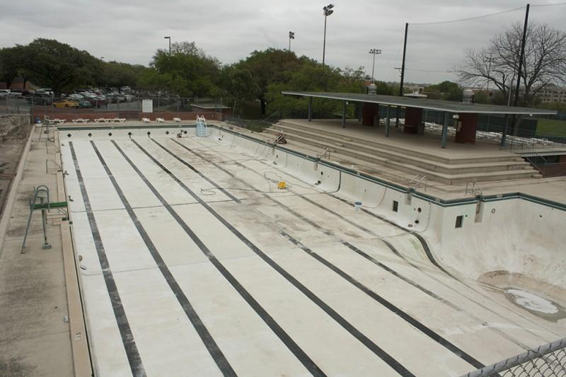 The outdoor swimming pool was recently drained for cleaning and is scheduled to reopen for recreational use on Monday, April 15.