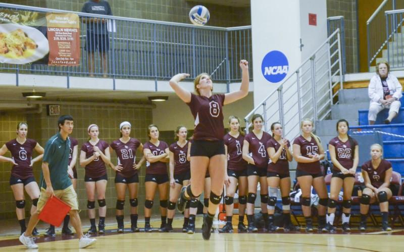 Volleyball team ties for first at Trinity National Invitational with three victories