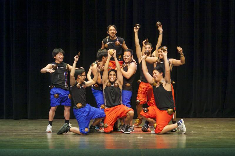 "The ""Coco Bros"" make an appearance during Filipino Student's annual Mabuhay festival last Friday in Laurie Auditorium."