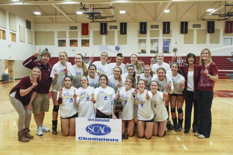 Volleyball+wins+seventeenth+SCAC+championship