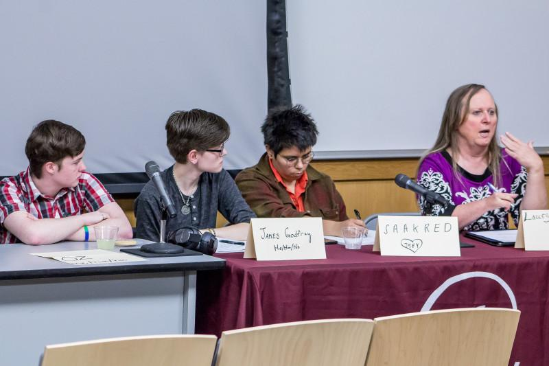 Breaking Binary: Transgender discussion gives national topic campus scope