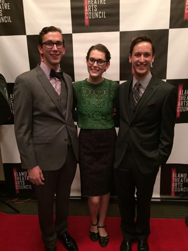 NICHOLAS CHAMPION, SASHA FAUST and MATTHEW REYNOLDS were all smiles as they walked down the red carpet at the Empire Theatre just prior to the awards ceremony beginning. Photo provided by SASHA FAUST