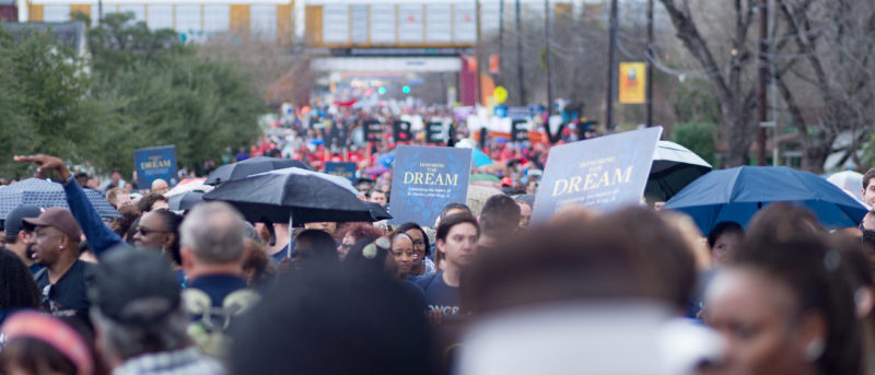 Thousands march in honor of MLK Jr.
