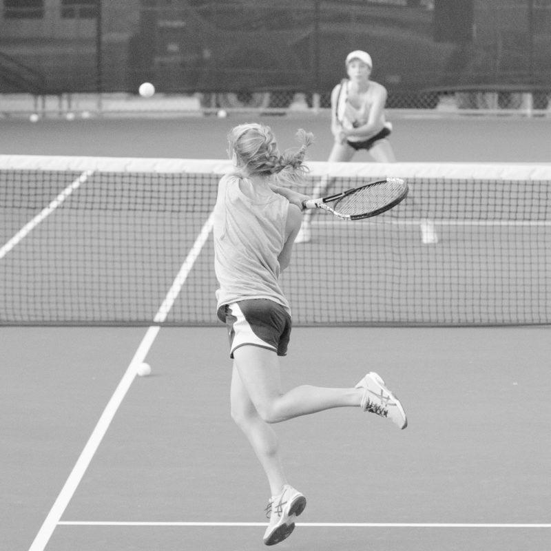 The tennis teams recently began practicing for the spring season. photo by OZVALDO VELOZ
