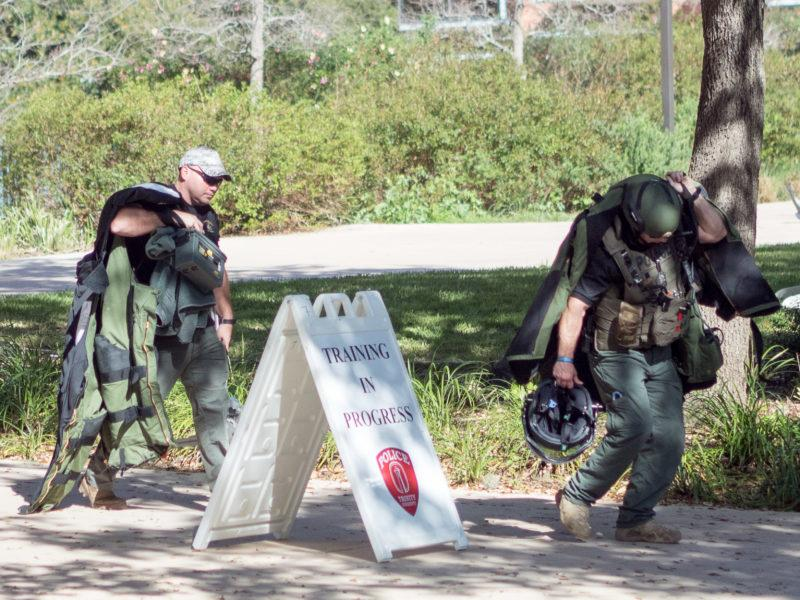 A full-scale bomb threat exercise on campus sparks faux crisis response