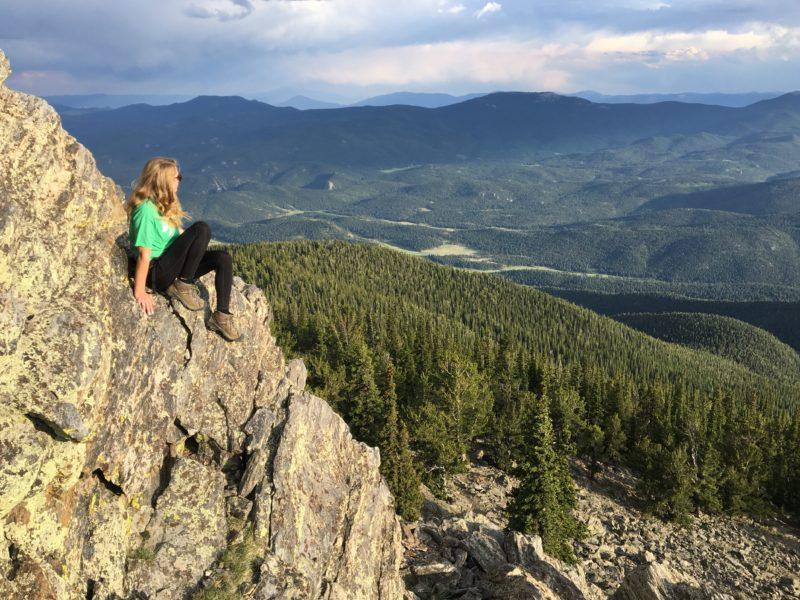 Maddy Walshak, an O-Rec Trip Leader, explores the outdoors during her summer. Photo provided by Maddy Walshak.