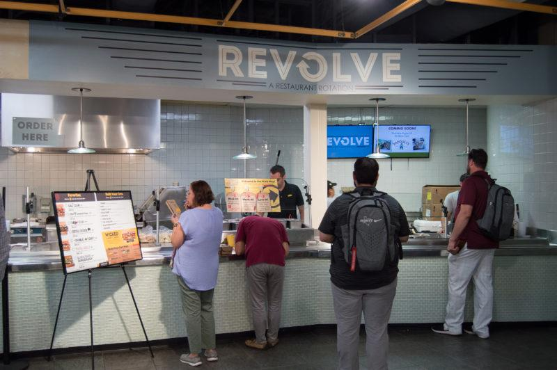 Campus dining introduces new restaurant concept, Revolve.  photo by Chloe Sonnier