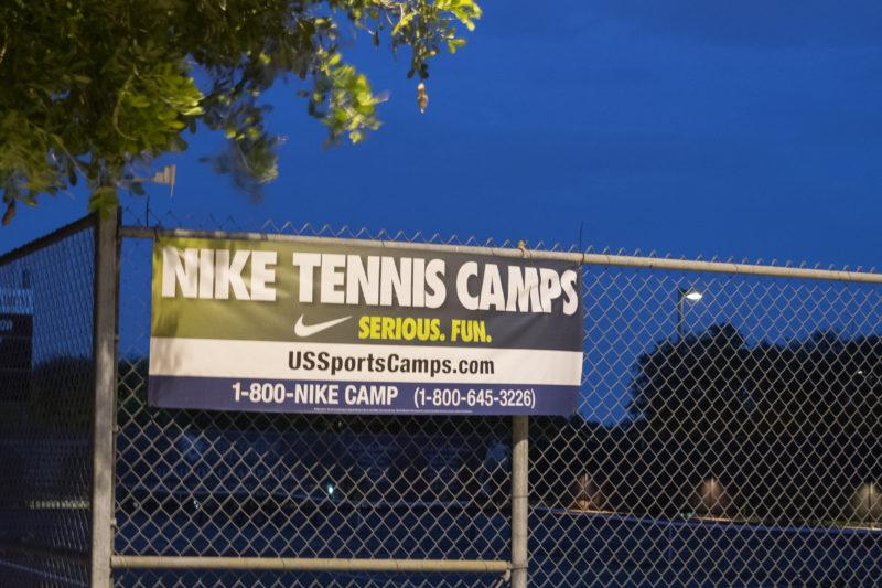Nike collaborated with the Trinity tennis team to host youth camps this past summer. Photo by Allison Wolff