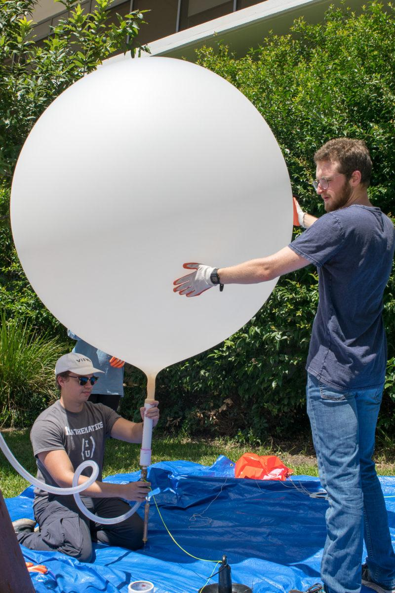 Chemistry department soars with giant data-collecting balloon launch