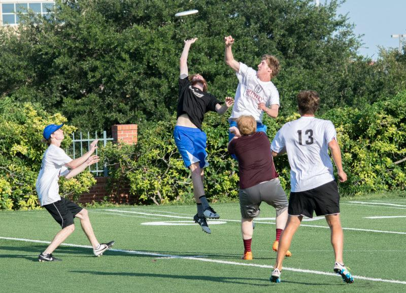 The men's ultimate team, Turbulence, practices for an exciting new season. Photo by Allison Wolff