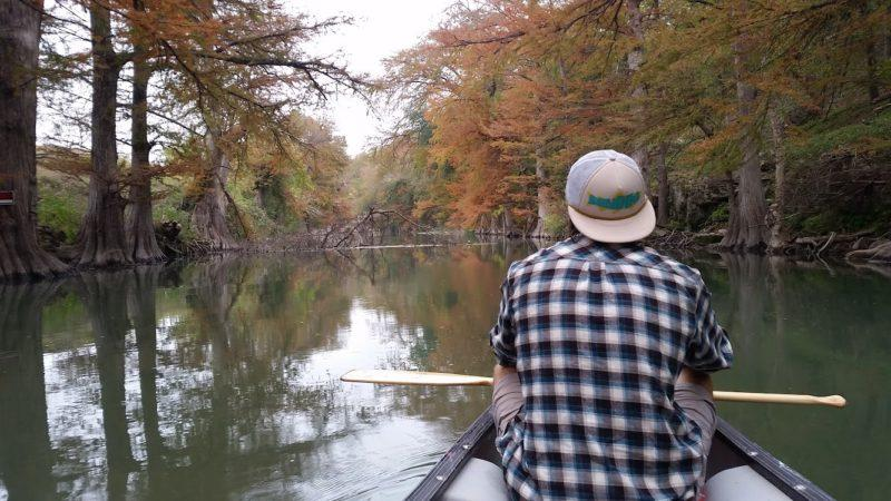 OREC Trip Leader Ian Witecki led a canoeing trip on the Guadalupe River earlier this semester. photo provided by OREC
