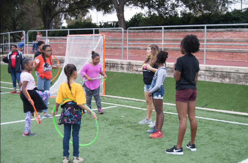 Students play at BSU Field Day. photo by Chloe Sonnier