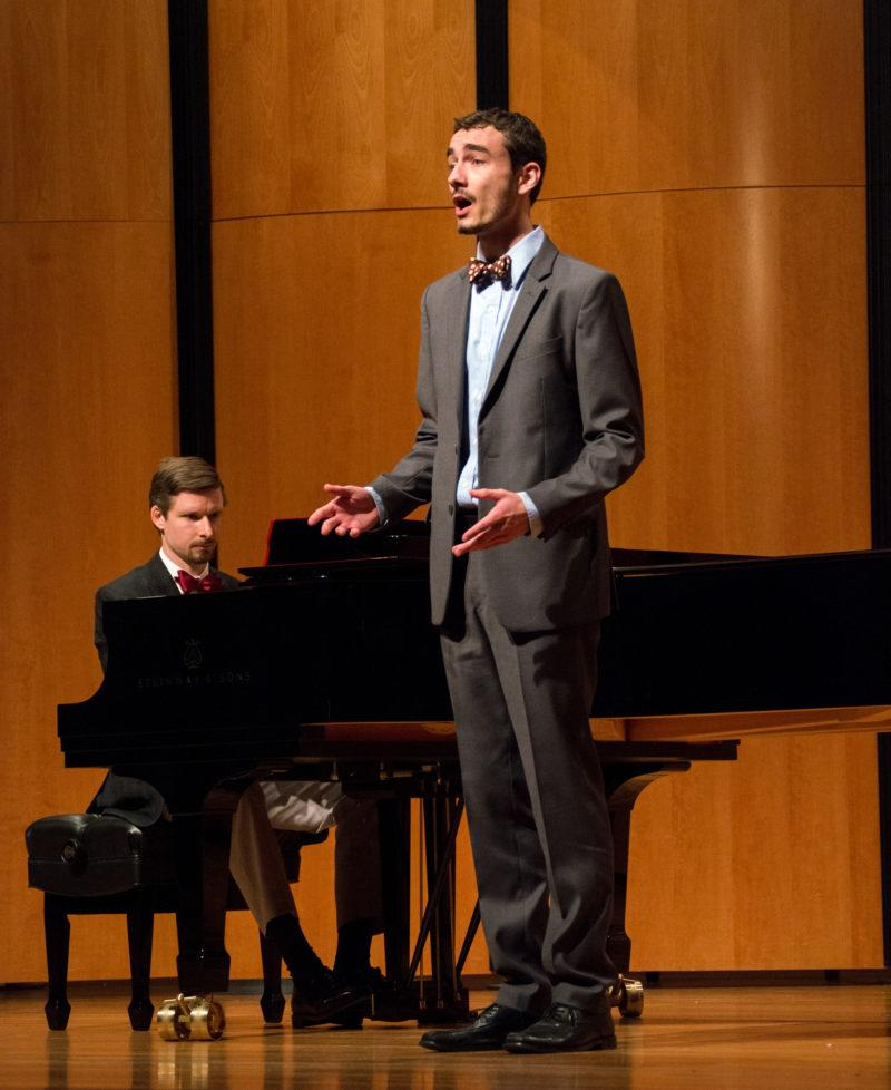 Tenor soloist Shane Bono performs alongside pianist Seth Nelson. photo by Chloe Sonnier