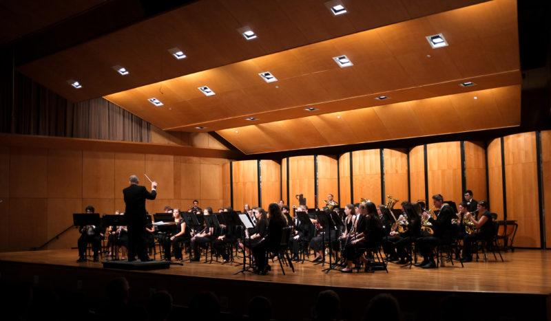 Trinity's Symphonic Wind Ensemble, conducted by James Worman, performs its fall concert. Photo by Stephen Sumrall-Orsak