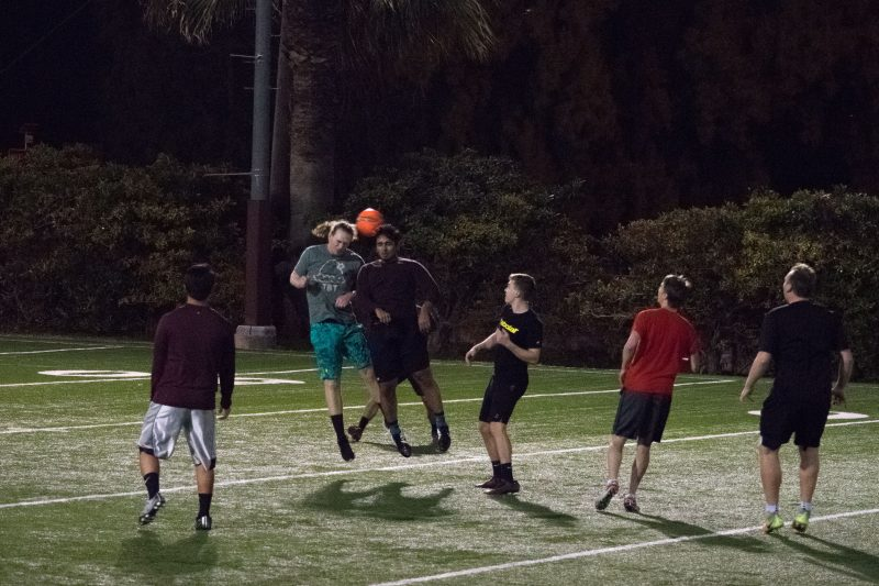 Intramural soccer began competition earlier this week. photo by Allison Wolff, staff photographer