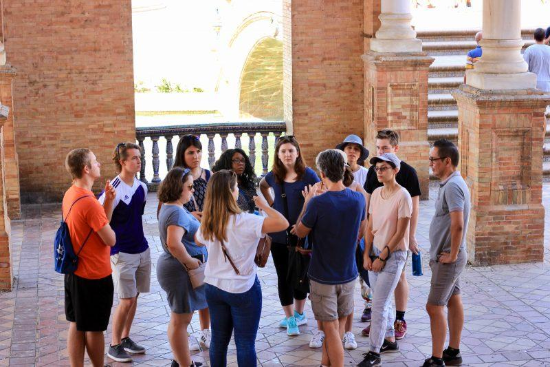 Ten students pioneered the Trinity in Spain program in Madrid. Upon return to the United States, the students were surprised by how few of their credits applied to Pathways, Trinity's curriculum. Photo provided by Katsuo Nishikawa.
