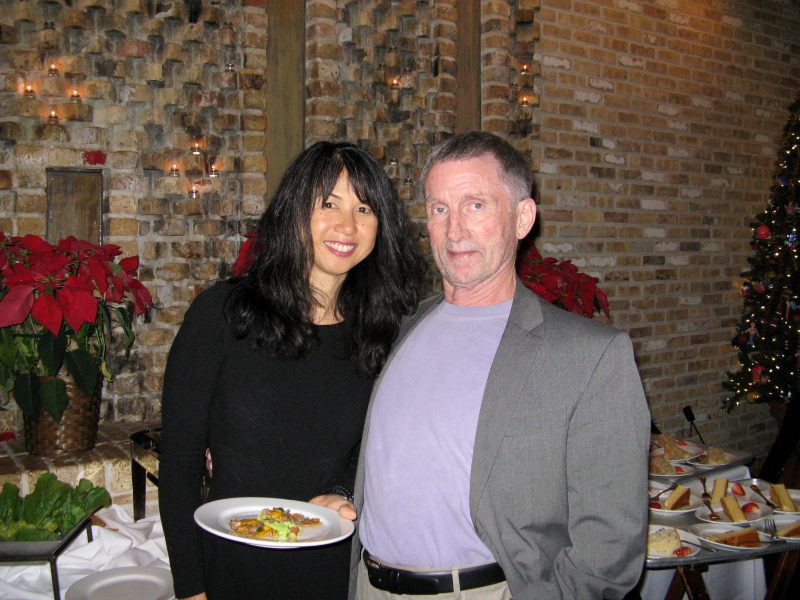 Darryl Waldron, right, worked as a professor of business administration at Trinity for 37 years. He is pictured above with his wife, Ayon Wen-Waldron, left. Photo provided  by J. Charlene Davis