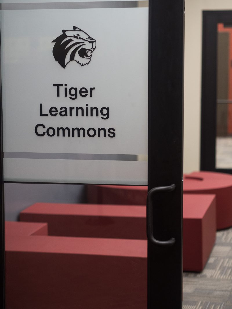 The Tiger Learning Commons (TLC), located in the library, is one of many resources available to students. The Student Accessibilities Services office is located inside the TLC. Photo by Amani Canada, photo editor.