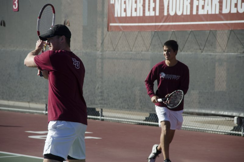 Kevin Lee, right, will play his senior year on the tennis team this spring. file photo