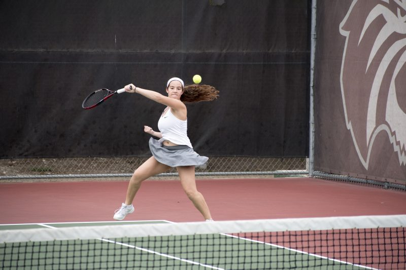 Ashley DeBauge, sophomore, competes on Saturday. photo by Allison Wolff, staff photographer.