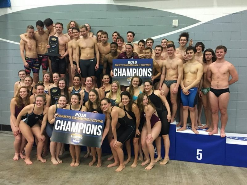 Tiger swim and dive won the SCAC championship this past week. photo provided by Duncan MacAskill