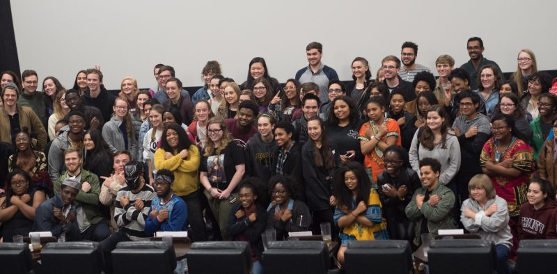 Almost every one of the 200 tickets distributed for the private viewing was taken by students. photo by Amani Canada