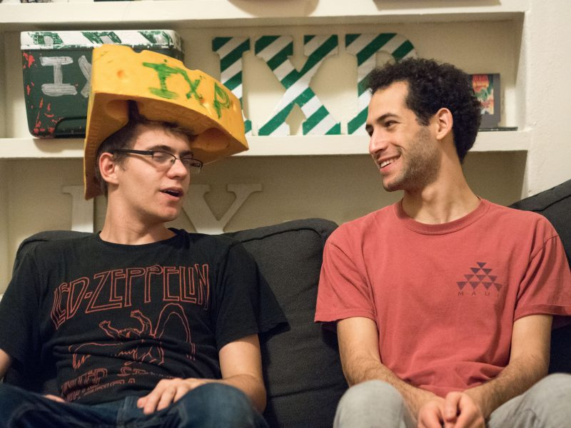 Constantine Kouldukis, left, and Gabriel Levine, right, enjoy living the frat life together. photo by Amani Canada, photo editor
