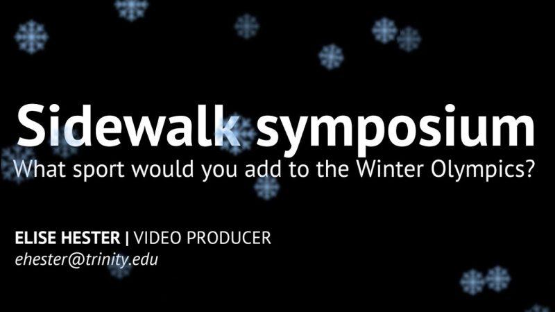 Video: Winter Olympics Sidewalk Symposium