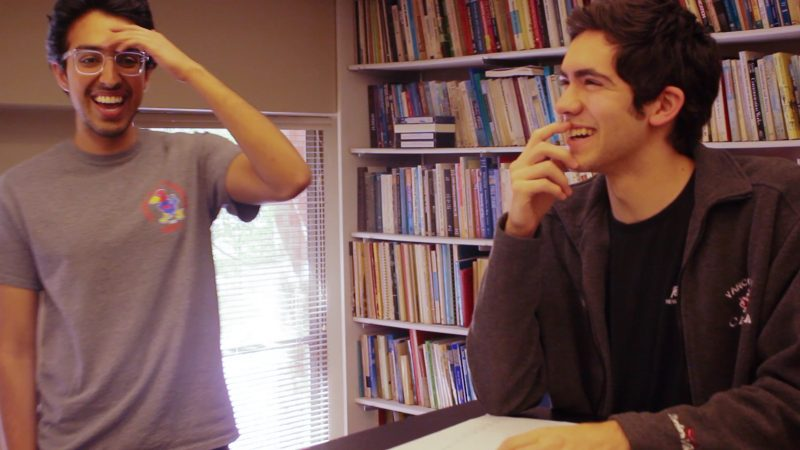 Ansh Khullar and Ian Dill enjoy time spent practicing. photo by Elise Hester, video producer