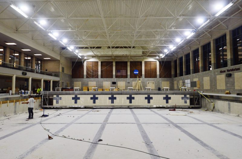 A deep dive into the renovations of Hixon Natatorium