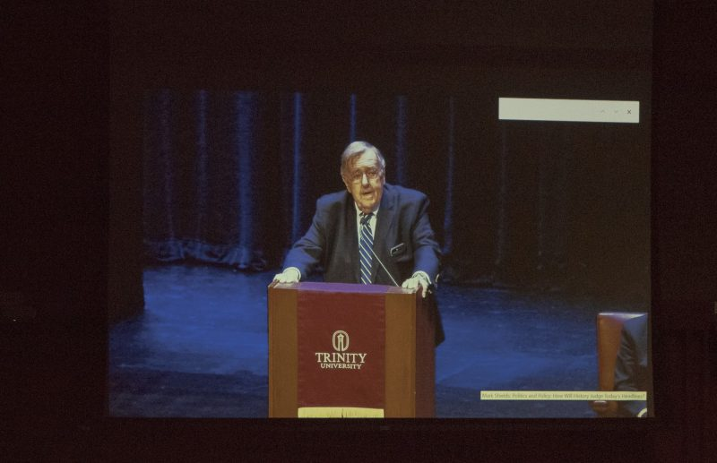 Mark Shields visits Trinity Campus