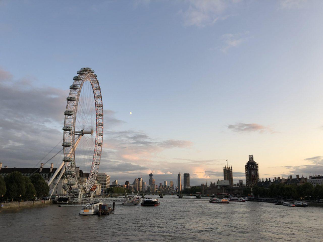 Natalia had just arrived in London when she decided to take a walk over the bridge overlooking the London eye and the scaffolding on the Big Ben. The sun was going down as she was on her way to dinner. Photo credit: Natalia Salas