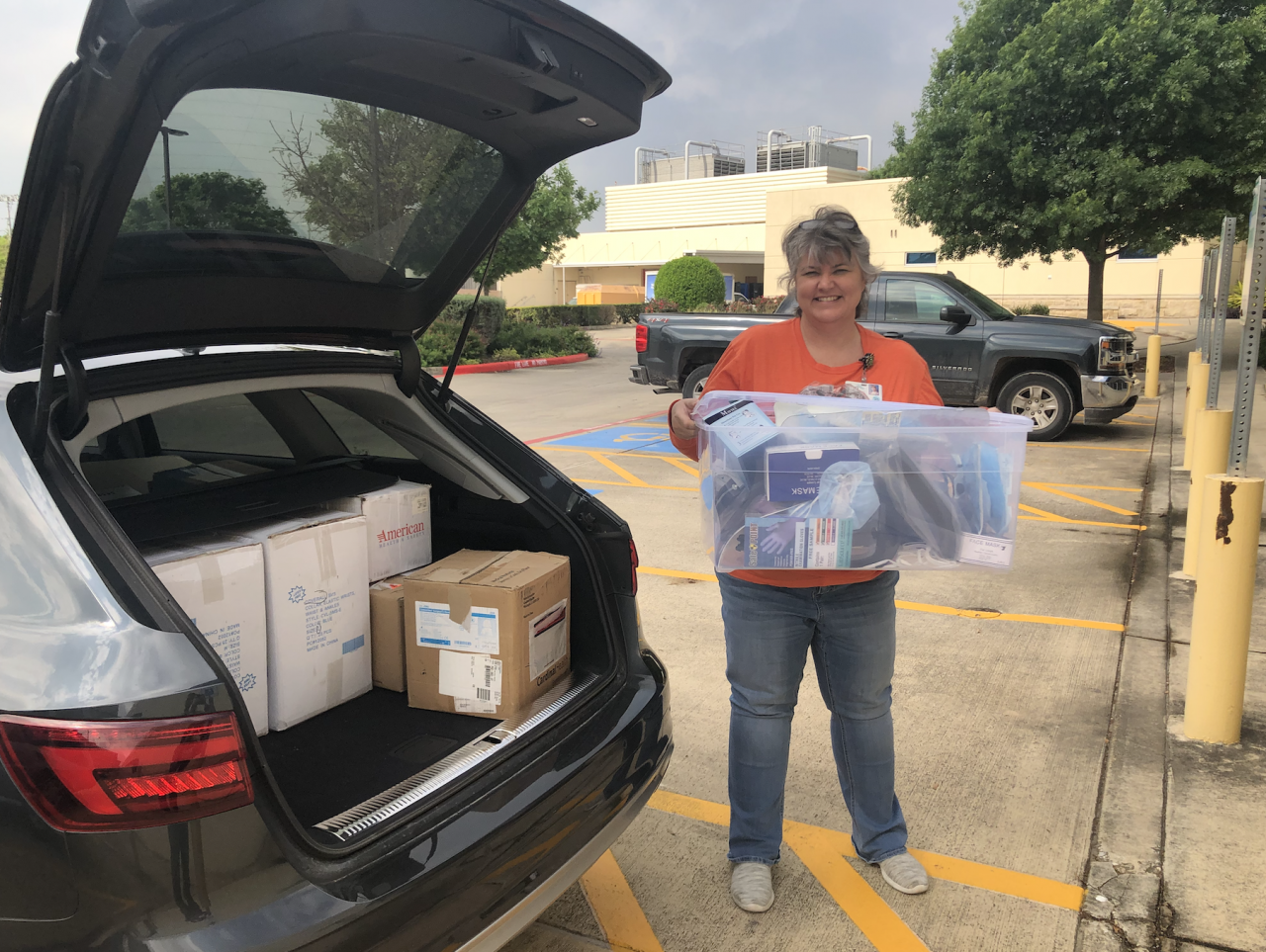 Trinity donates personal protective equipment to local medical center