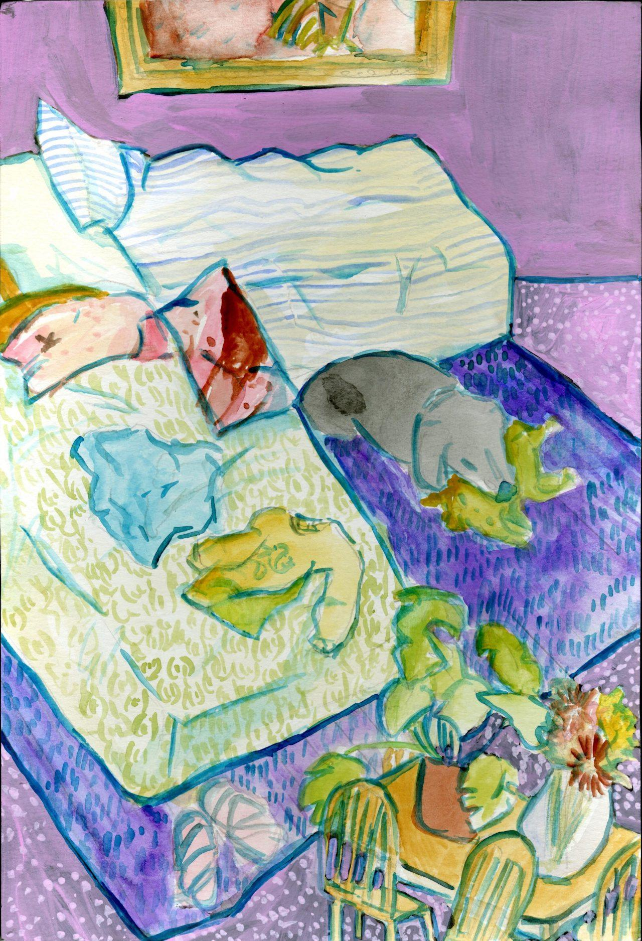 %22Bedroom+Blues%22+by+Elyse+Andrews.+Watercolor+and+gouache+on+paper.+This+painting+will+not+appear+in+the+senior+show+but+very+directly+has+a+major+influence+on+Andrews%27+work%27s+direction.