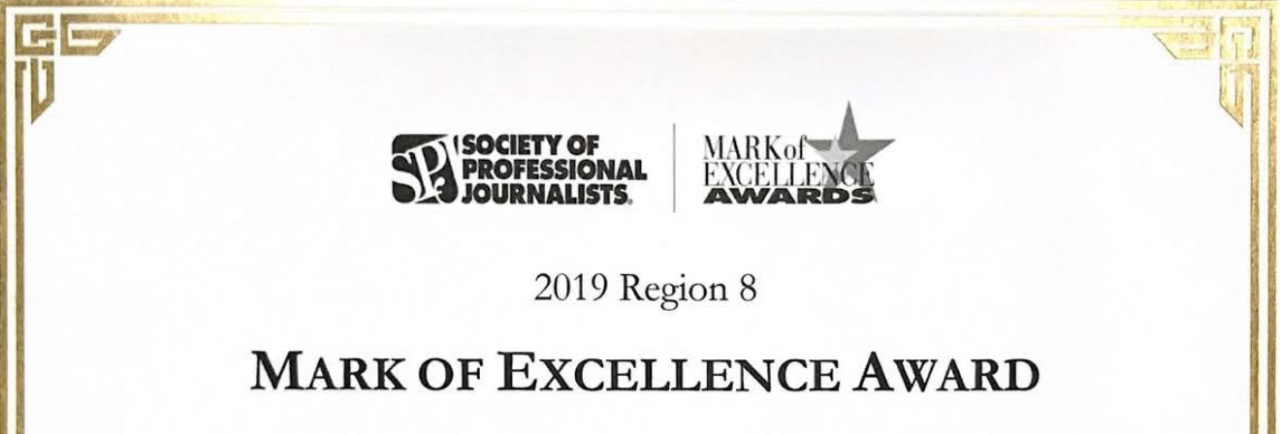 2019 Awards from the Society of Professional Journalists and the Texas Intercollegiate Press Association
