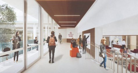 University plans for the renovated Chapman Center on upper campus, a part of the campus master plan.